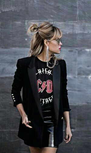 Rock'n'Roll-Stil ★ - Frauenmode #asymmetrischerschnitt