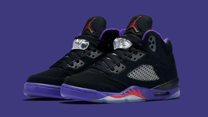 7068decb7d0a Air Jordan 5 Black Ember Glow Fierce Purple