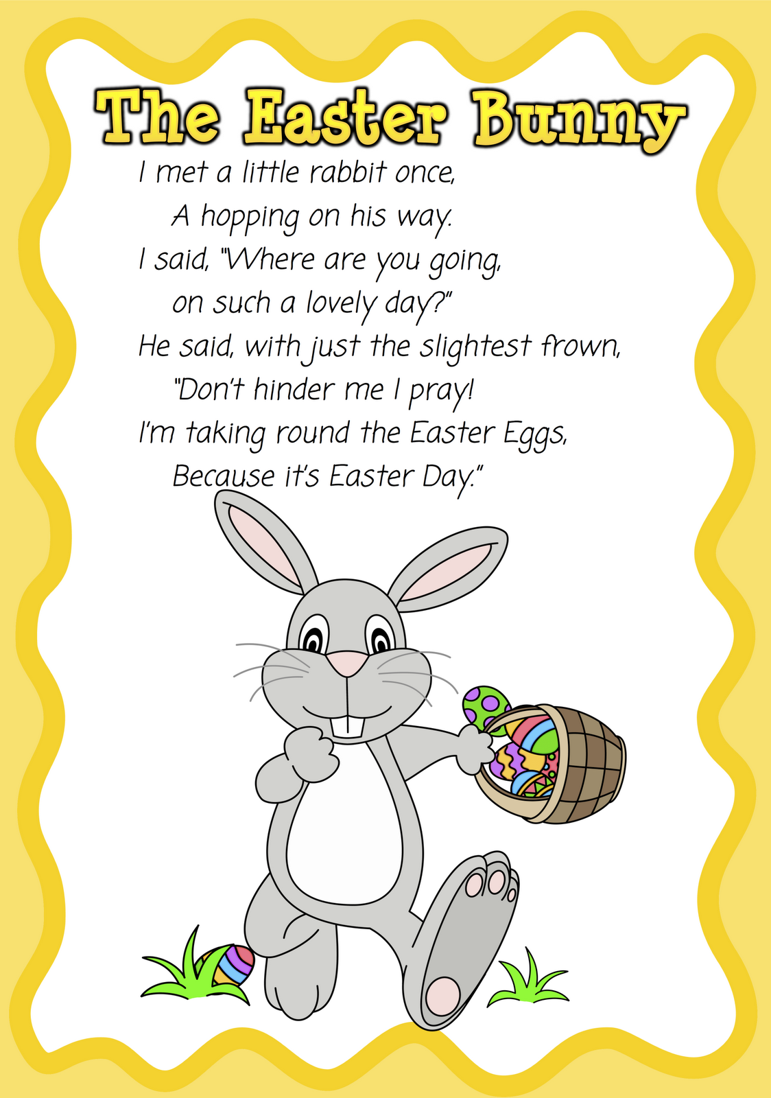 Easter Poems On Bunny And Eggs For Kids To Make A PerfectEaster Poems Check Out Best Short Easter Poems