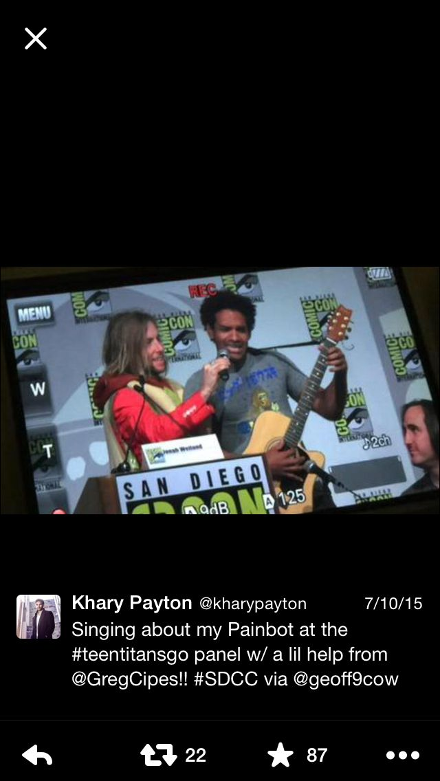 Greg Cipes x Khary Payton at SDCC || 7.13.15