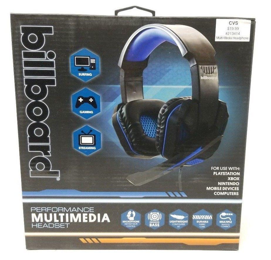 Billboard Performance Gaming Headset W Microphone And Enhanced Bass New Bb569 Billboard Gaming Headset Headset Best Gaming Headset