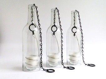 Easy Diy Tea Light Glass Wine Bottle Hurricane Candle Lamps Holder