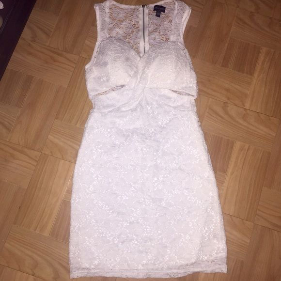 Crotchet White Dress Crotchet White Mine Dress- used for about 3 hours great condition Dresses Mini