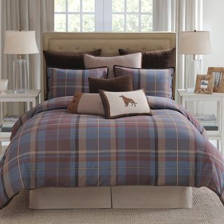 @Overstock   Modern Living Baxter Blue Plaid Comforter Set   The Baxter  Traditional Plaid Is