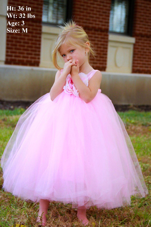 Light Pink Tutu Dress for Toddlers Flower Girl Dress Amazon.co.uk ...