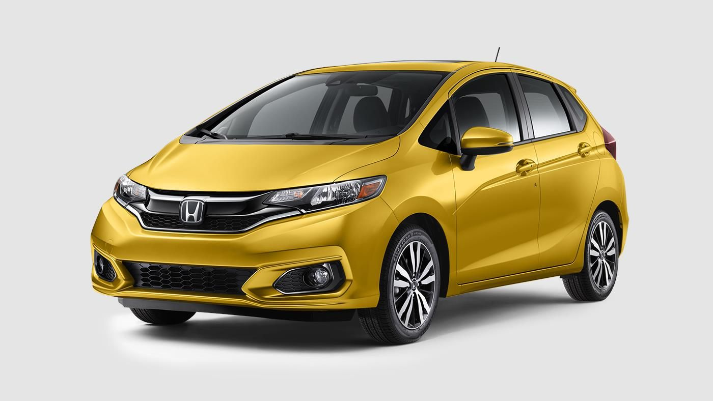 2019 Honda Fit The Sporty 5 Door Car Honda Ex L Yellow Automatic With Navigation L A Honda Fit Honda Honda Models