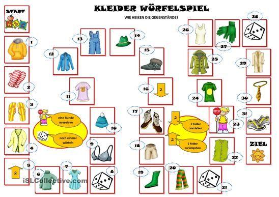 kleider w rfelspiel englisch kindergarten deutsch lernen spiele w rfelspiele und kleidung. Black Bedroom Furniture Sets. Home Design Ideas
