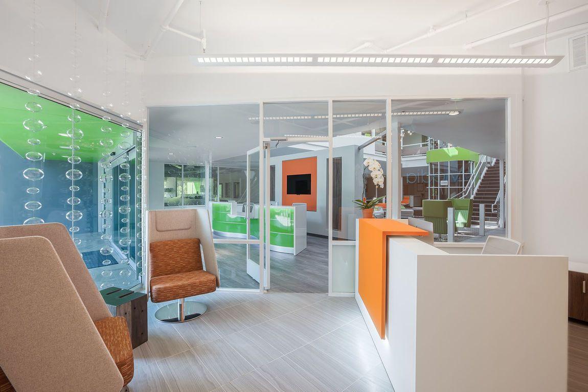 Contemporary reception desk furniture reception dental pinterest