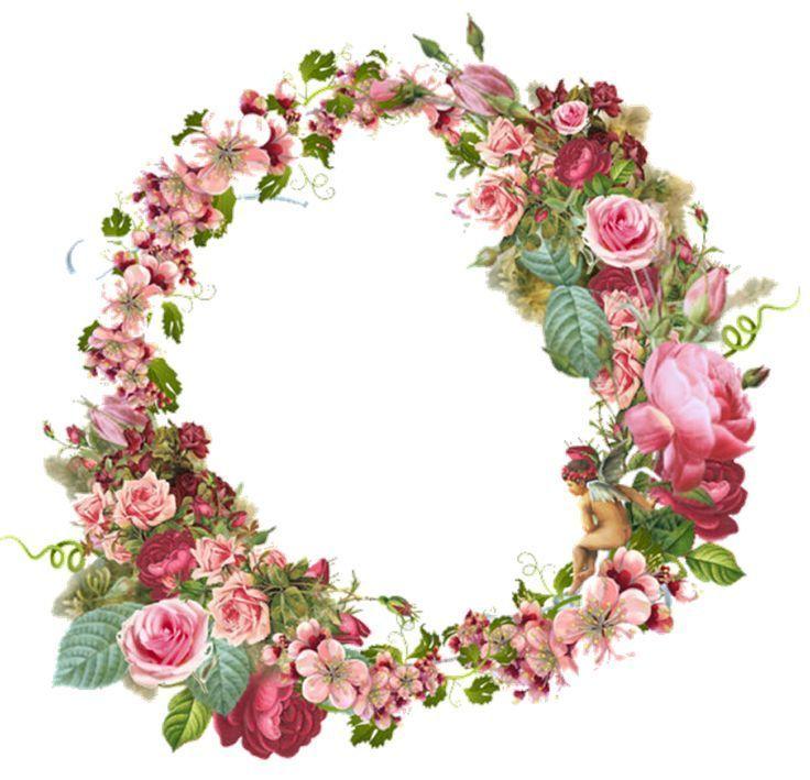 Corona de rosas flores cenefas hojas pinterest - Coronitas de flores ...