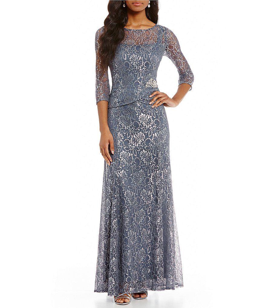 Emma street metallic lace mock piece gown in weding pinterest