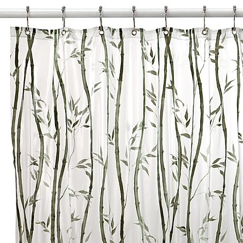 Bamboo Vinyl Shower Curtain With Images Vinyl Shower Curtains