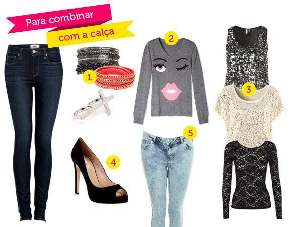 Esses são exemplos para você montar o seu look com peças basicas!