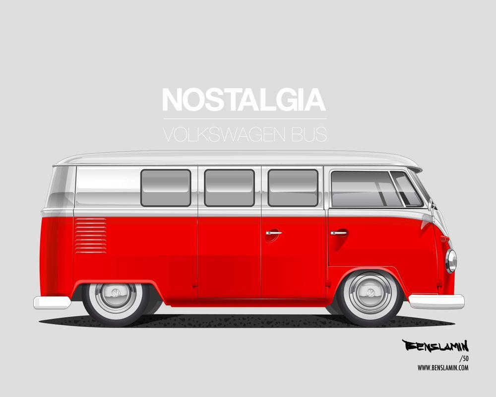Vw Bus Art By Benslamin イラスト
