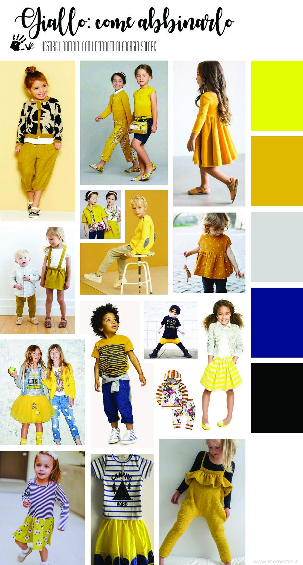 Che Colore Abbinare Al Giallo indossare il giallo nella moda bambini in primavera