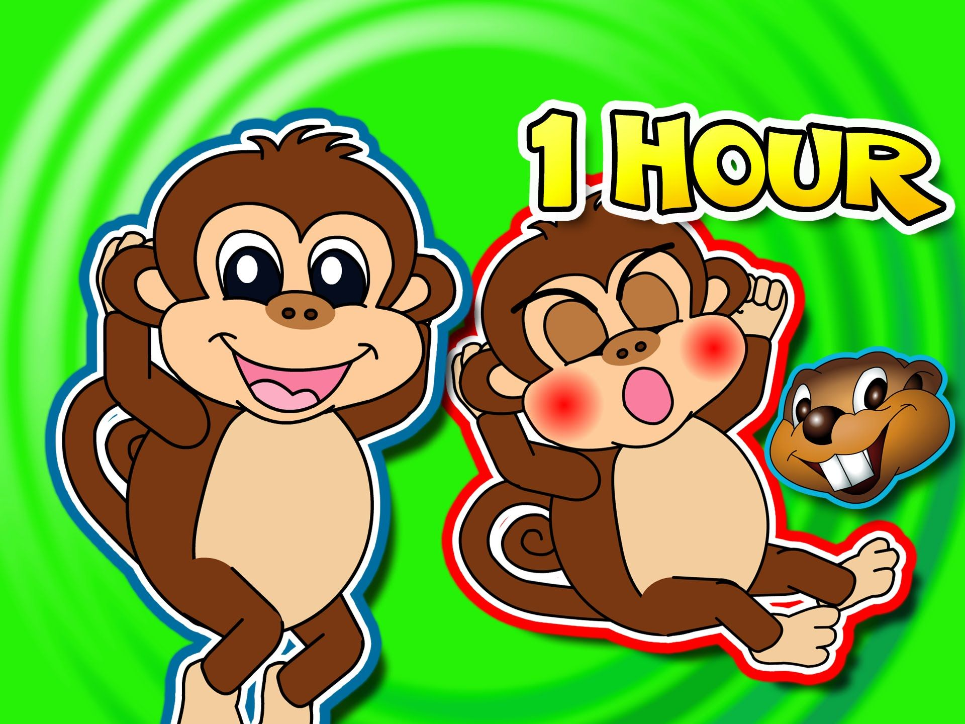 Busy Beavers Make Kids Learning Videos That Will Teach Your Little Baby Her Abcs 123s Colors Shapes Kids Learning Videos Five Little Monkeys Nursery Rhymes