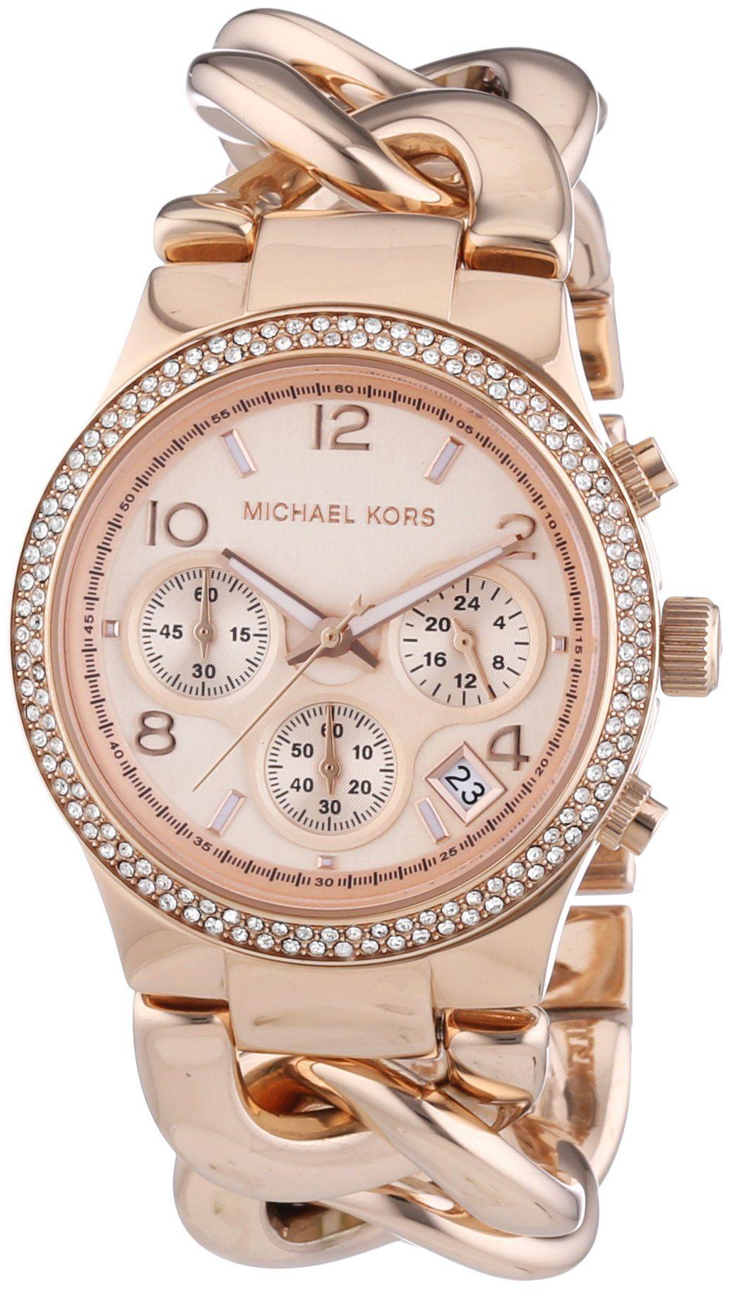 b7cac8bfbf66e Michael Kors Damen-Armbanduhr Chronograph Quarz Edelstahl beschichtet MK3247