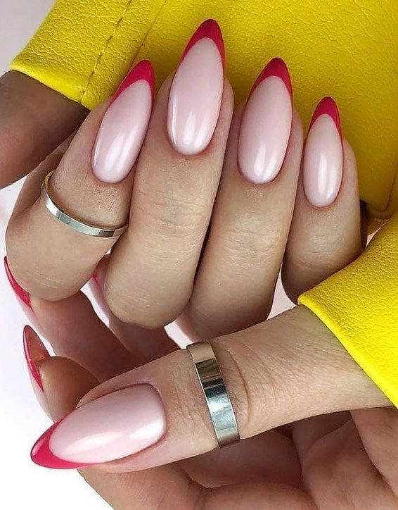 Easy Cutest Summer Nail Designs For All Girls Vogue Clash Red Tip Nails Nail Tip Designs Manicure