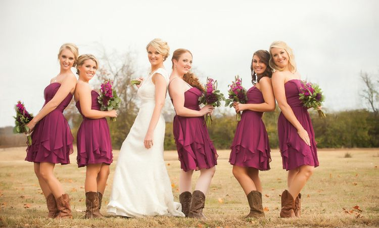 Country Chic Purple Wedding Gordon Shelley The Pink Bride Country Bridesmaid Dresses Plum Bridesmaid Dresses Burgandy Bridesmaids Dress