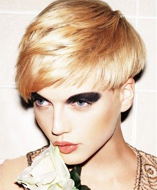 short blonde straight coloured hairstyles for women