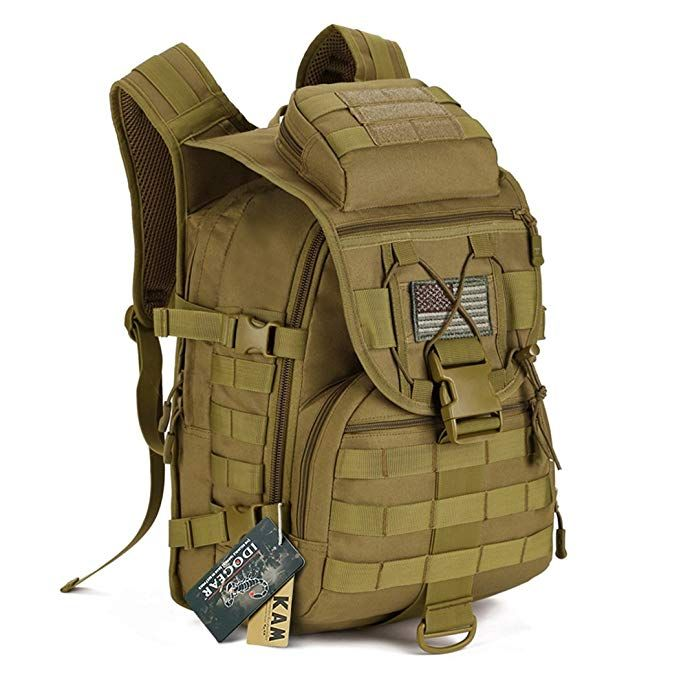 c808131d745d IDOGEAR 40L Tactical Backpack Molle Assault Pack 900D Nylon Water Resistant  Military Army Shoulder Bag Travelling