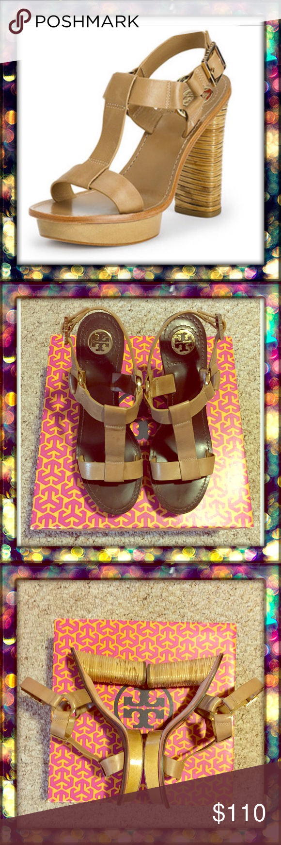 Tory Burch Kimber - Veg leather sandals For an easy day to night transition, wear the kimber sandal....