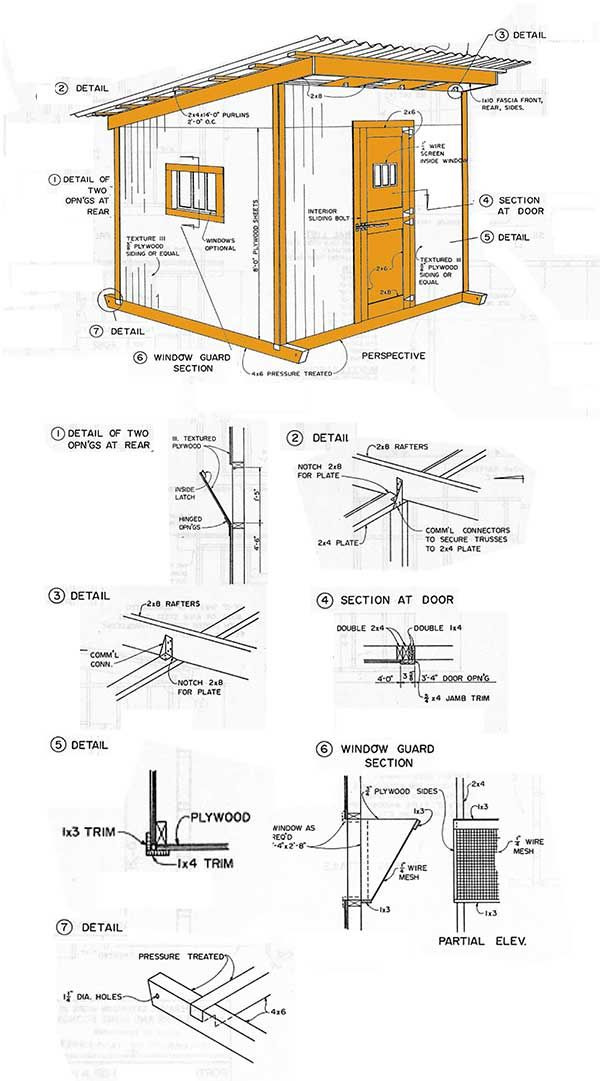 10 12 Lean To Storage Shed Plans How To Construct A Slant Roof Shed Storage Shed Plans Shed Blueprints 10x12 Shed Plans