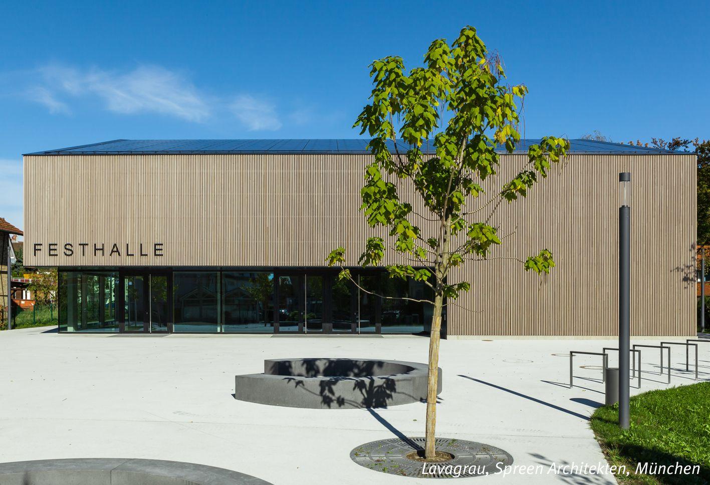 Architekten Kleve festhalle in kressbronn am bodensee mit moderner grauen holzfassade