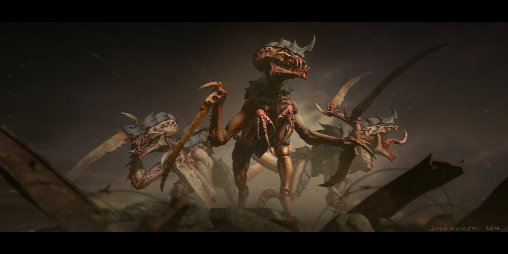 Tyranid 4k Wallpaper 4 3 By Julionicoletti On Deviantart Warhammer Art Tyranids Character Design