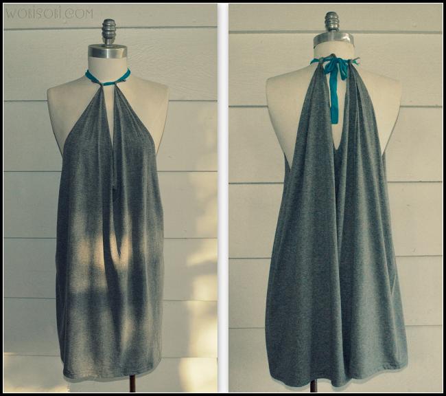 61279e2b8691f Summer Halter, No Sew Dress: DIY | Dresses | Shirt dress diy, Diy ...