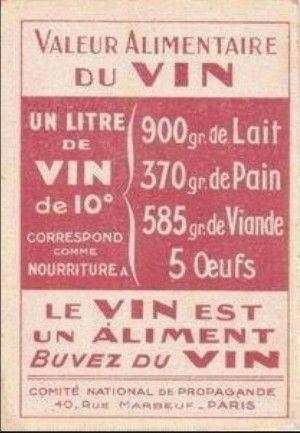 Le vin est un aliment, buvez du vin !