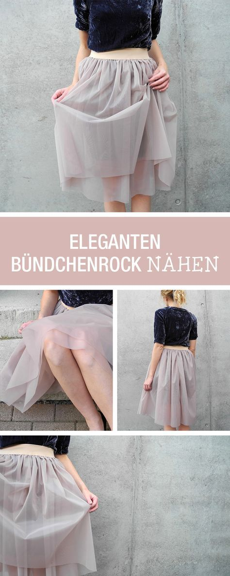 Nähanleitung für einen eleganten Bündchenrock, Mode nähen / diy ...