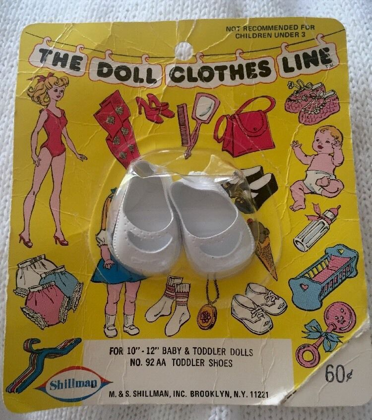 MIP Vintage The Doll Clothes Line Baby Toddler SHOES Shillman #Shillman