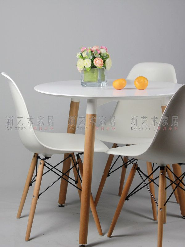 Negotiating Table Solid Wood Dining Table Small Round Conference