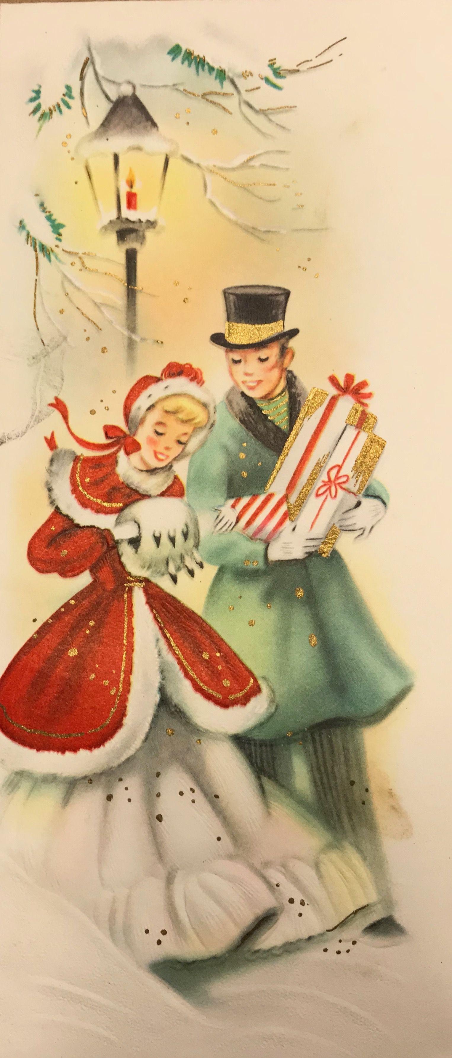 Auguri Di Natale Anni 50.Pin Von Nino Auf Biglietti Di Natale Natale Vintage Biglietti Di