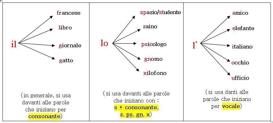 Il Lo L3 Jpg 885 401 Determinazione Regole Grammaticali Scuola