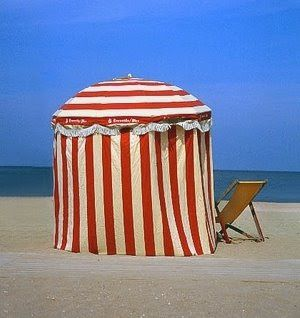c9c8134445c1 French Beach Parasol | Booth Ideas | Beach cabana, French beach ...