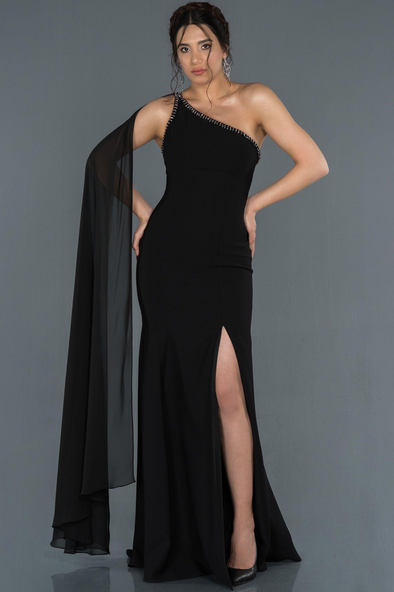 Siyah Bacak Ve Sirt Dekolteli Balik Abiye Abu1339 2020 Elbise Modelleri Elbise The Dress