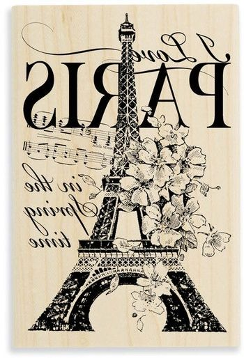 Great Paris, Eiffel Tower image, floral, music notes, typography. Reversed and ready for transfer onto furniture or home accessories. Just have it printed on a Laserjet printer and use Artisan Enhancements Transfer Gel!