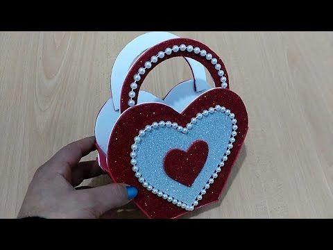 عمل فني سهل جدا بورق الفوم اعمال يدوية بورق الفوم Youtube Valentine Crafts Craft From Waste Material Disney Valentines