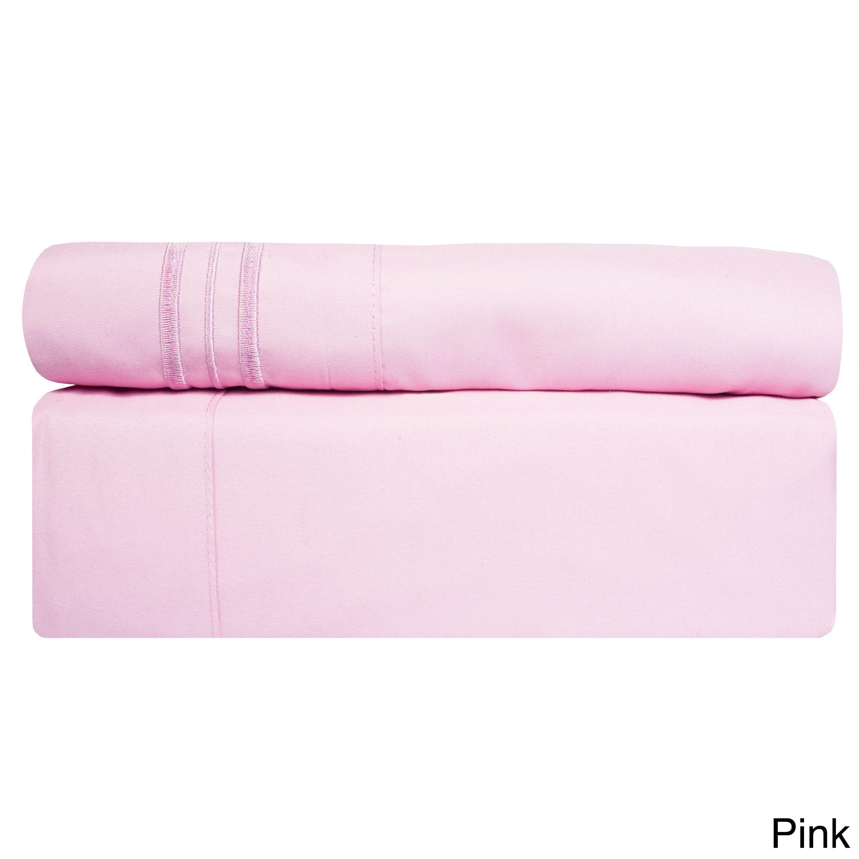 Incredibly Soft 4 Piece Deep Pocket Bed Sheet Set