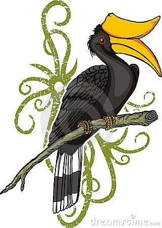 Lukisan Burung Enggang Sarawak Cikimm Com