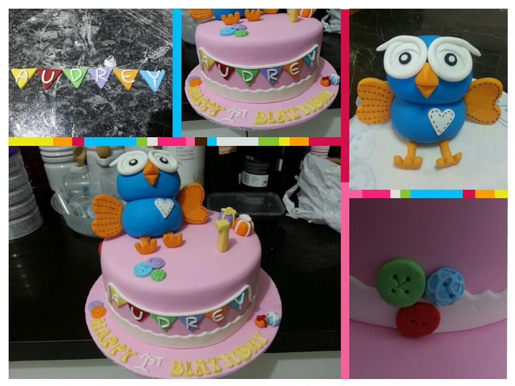Birthday Cake With Name Tag ~ Hoot owl cake and bunting name tag cake my cakes