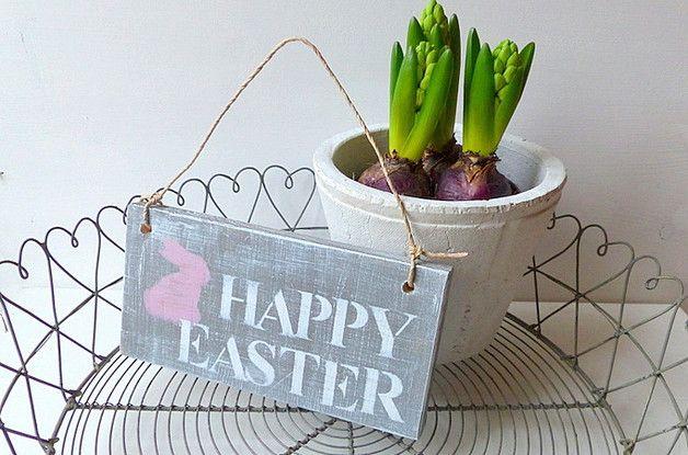 Holzschild Happy Easter