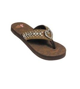 169d362e33aa89 Justin Trinity Women s Brown Sandals with Rhinestones -  5512002 ...