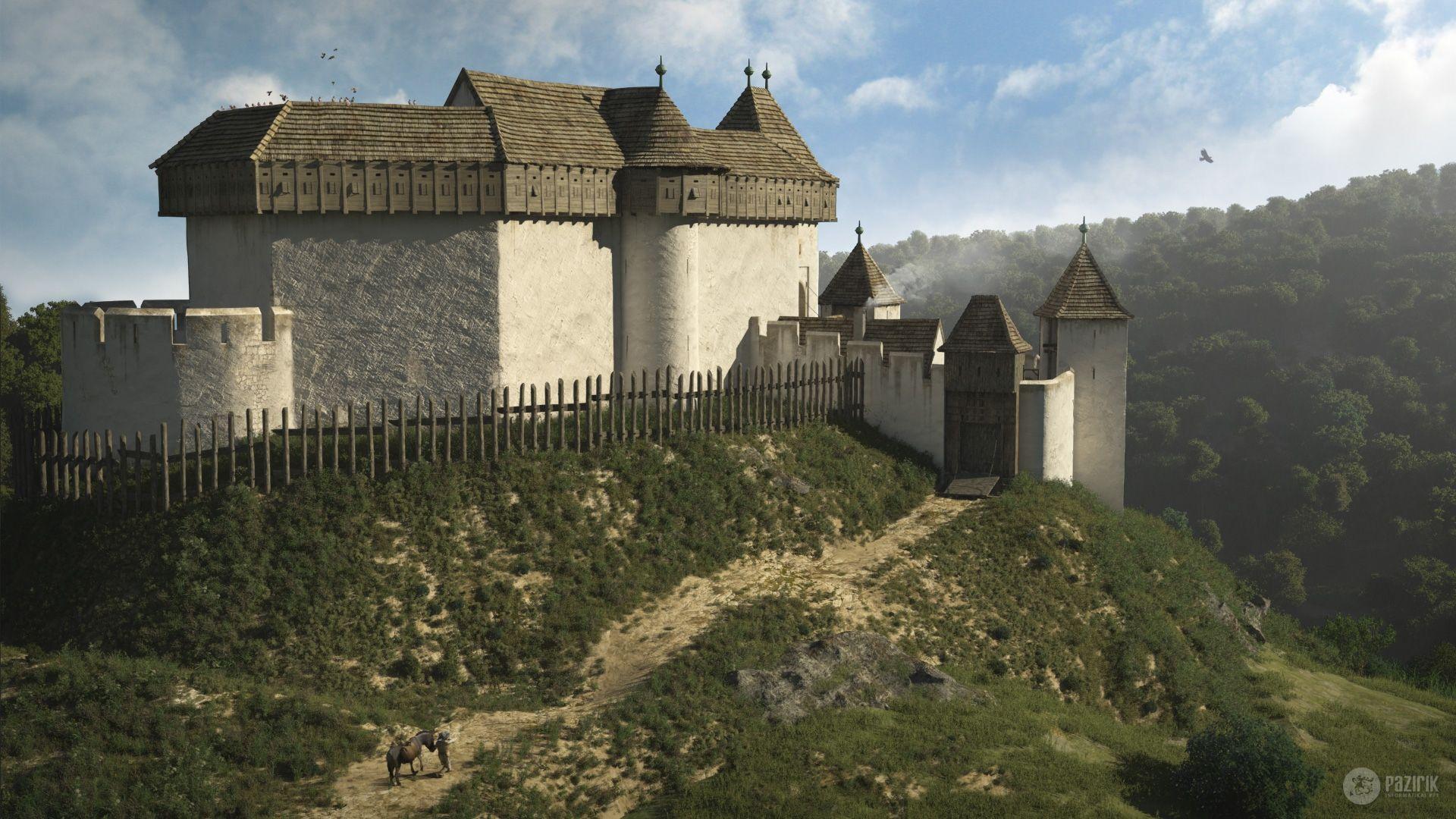 Máré Castle - 3D reconstruction by Pazirik | Castles of Medieval