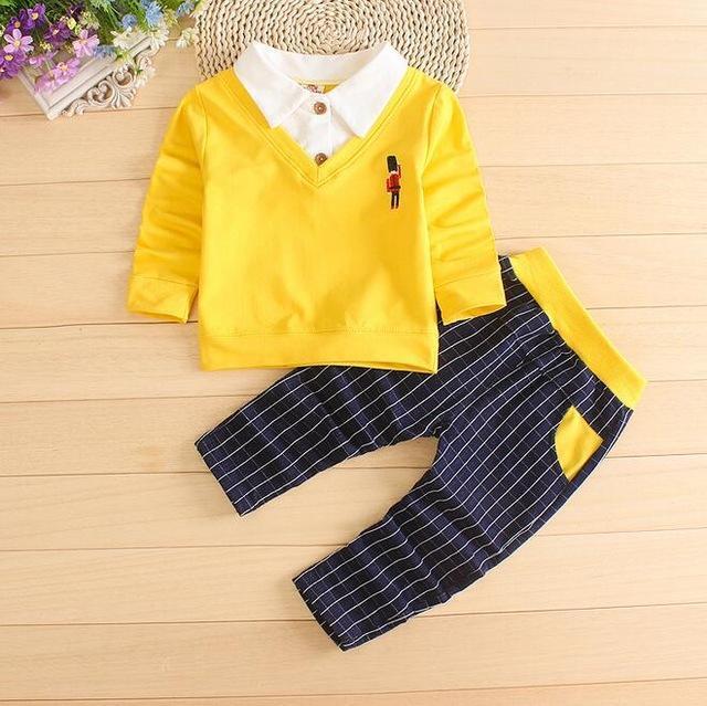 706a992d0 2018 Fashion Baby Boy Clothes Sets Gentleman rompers +pants Suit ...