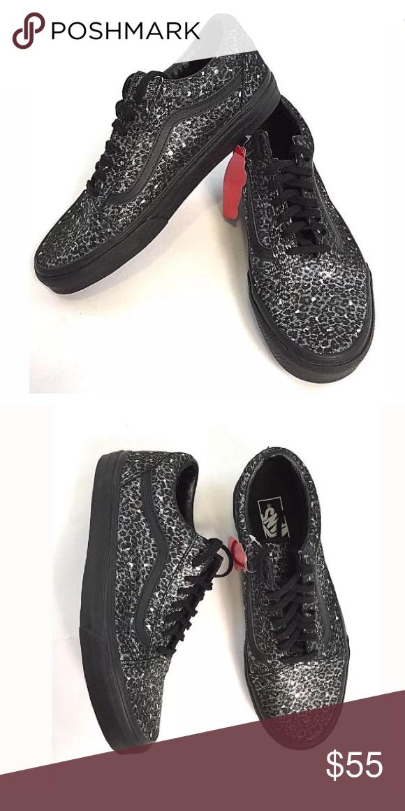 e52d182f5a79 Vans Old School Black Metallic Leopard Print New Without Box VANS Old Skool  Black Silver Metallic Leopard Women s Shoe . Super awesome print! Vans Shoes  ...