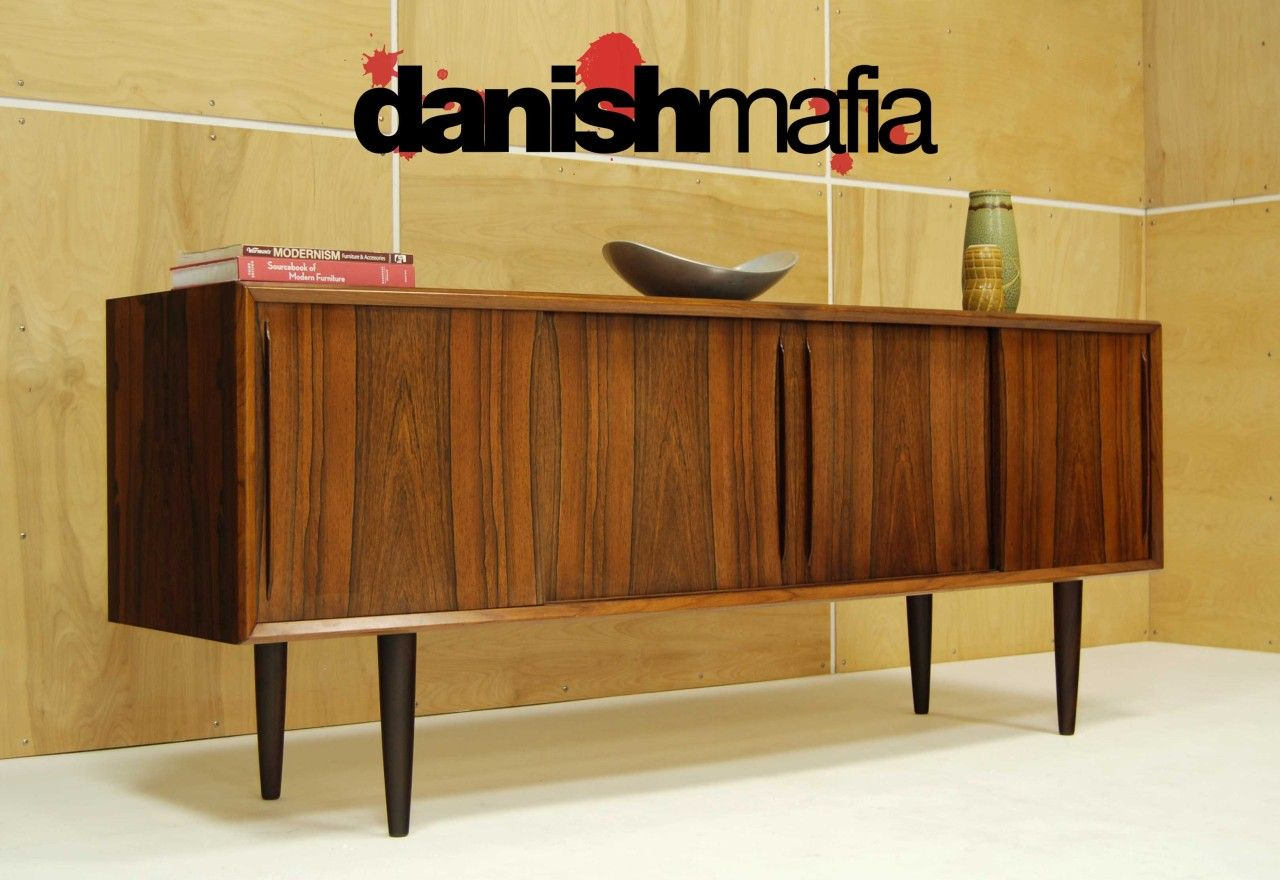 Modern Credenzas MID CENTURY DANISH MODERN BOW FRONT ROSEWOOD
