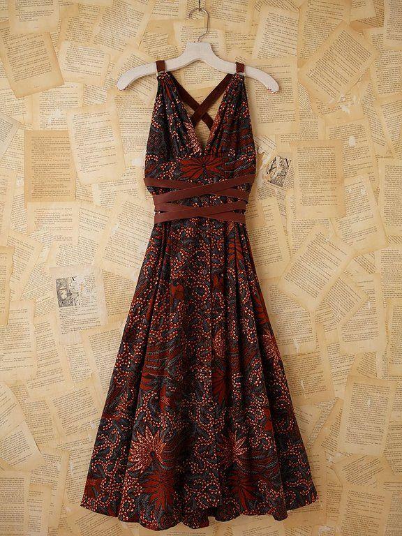 Batik solo maxi dress