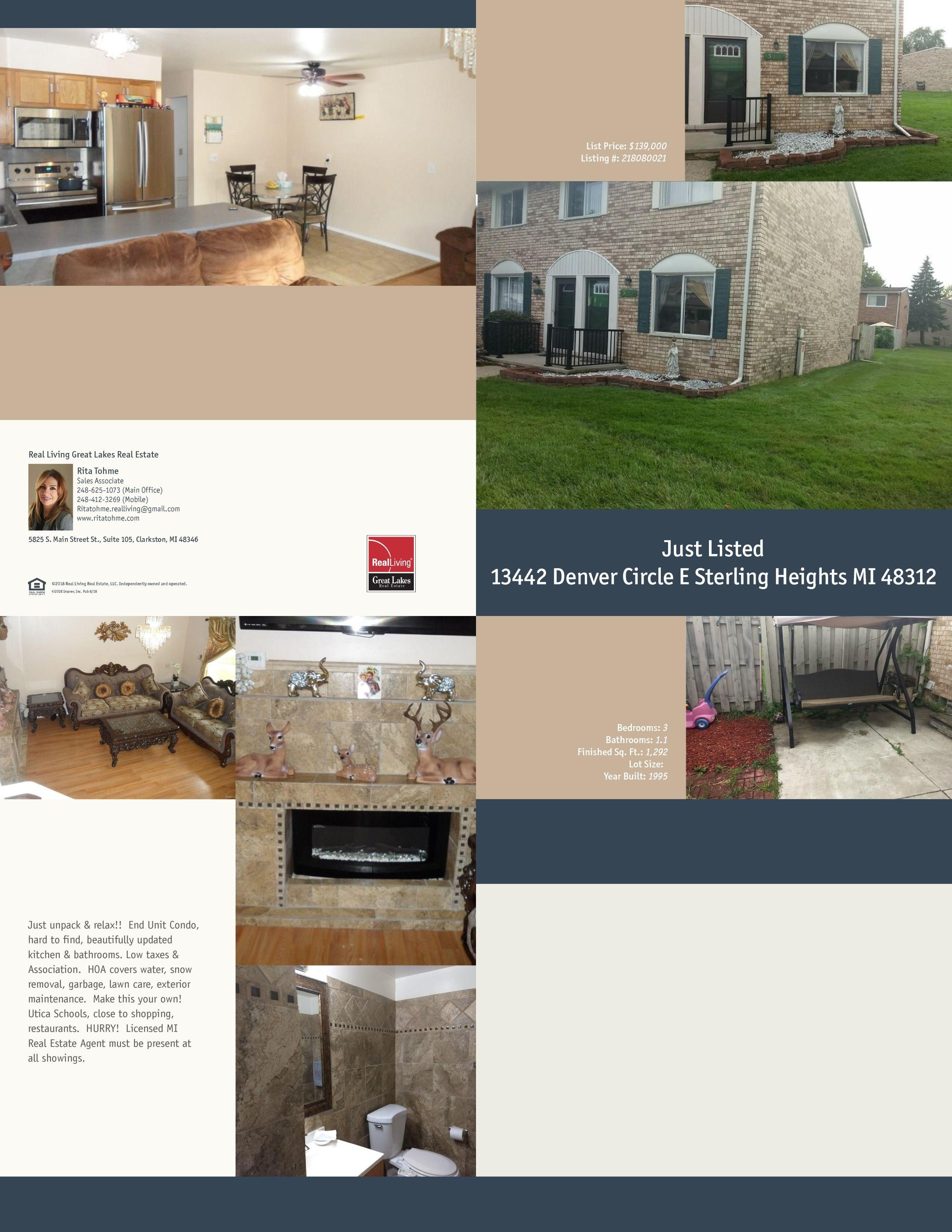 13442 Denver Circle E Updated Kitchen Real Estate Sterling Heights